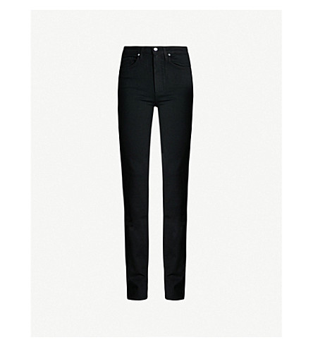 PAIGE Hoxton straight high-rise jeans (Black+shadow