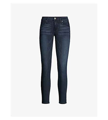 PAIGE DENIM Verdugo ultra-skinny cropped mid-rise jeans (Mid+lake