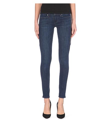 PAIGE DENIM Embellished chevron verdugo mid-rise skinny jeans (Lange