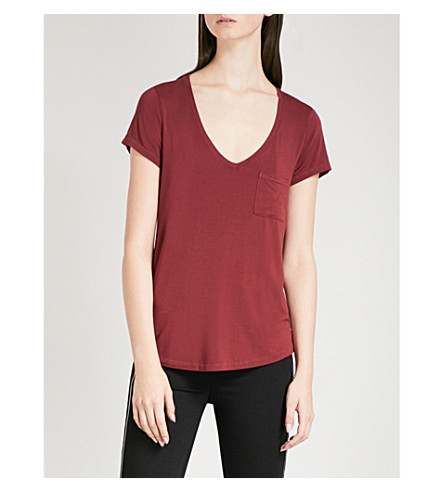 PAIGE Lynnea jersey T-shirt (Rouge