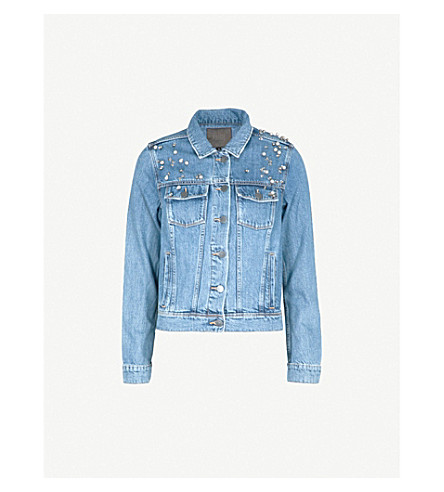 PAIGE Rowen stretch-denim jacket (Naveen+embellished