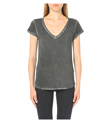 PAIGE DENIM Charlie stretch-jersey t-shirt (Vintage+black