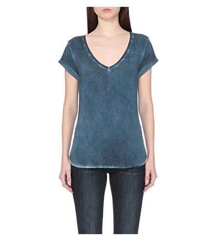 PAIGE DENIM Charlie jersey t-shirt (Vintage+insignia+blue