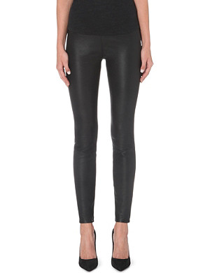 PAIGE DENIM Molly panelled leather leggings