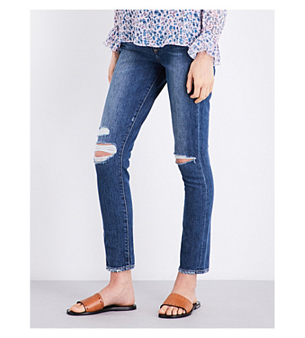 PAIGE DENIM Hoxton skinny high-rise jeans (Lexington+destructed