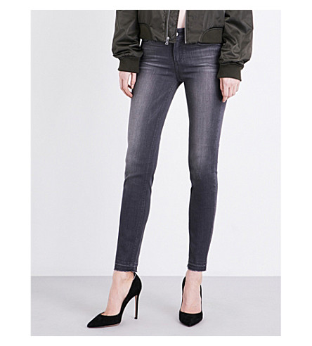 PAIGE DENIM Verdugo ultra-skinny mid-rise jeans (London+grey
