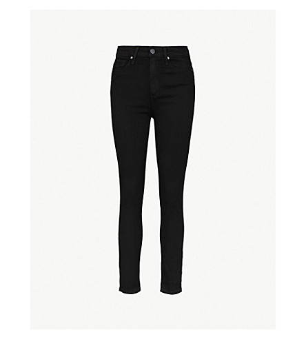 PAIGE Margot ultra-skinny high-rise cropped jeans (Black+shadow