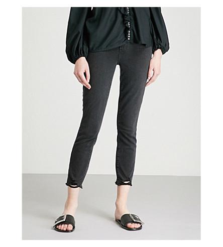 negro de Margot altura gran ultra jeans skinny recortada niebla PAIGE P8nxqZw7n