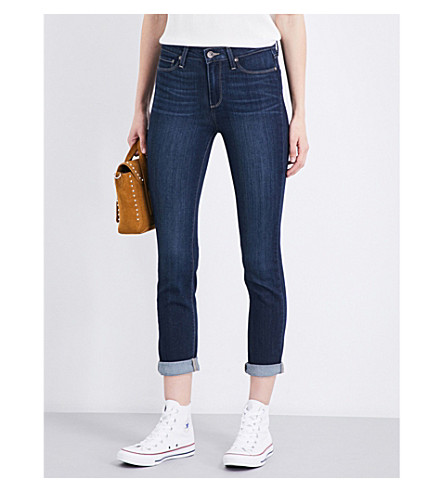 PAIGE Hoxton roll-up cuffs skinny high-rise jeans (Drift