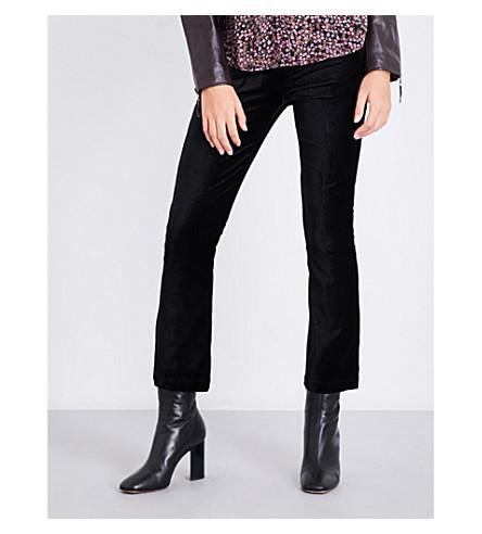 PAIGE DENIM Colette flared high-rise velvet jeans (Black