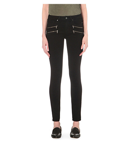 PAIGE DENIM Edgemont skinny high-rise jeans (Black+shadow