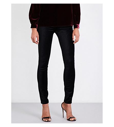 PAIGE Edgemont ultra-skinny high-rise velvet jeans (Black