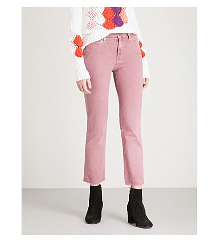 PAIGE Hoxton straight high-rise jeans (Vintage+rose+garden