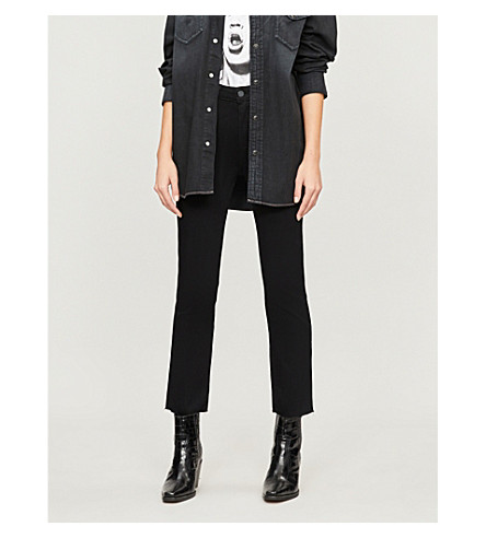 PAIGE Jacqueline straight high-rise jeans (Black+shadow