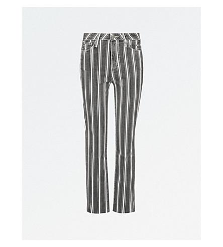 PAIGE Hoxton striped straight mid-rise jeans (Vinatge+black+stripe