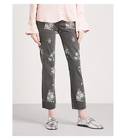 PAIGE Hoxton floral-print straight high-rise jeans (Vintage+floral