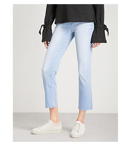 PAIGE Hoxton straight cropped high-rise jeans (Lumina+raw+hem