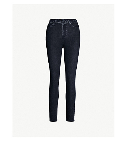 PAIGE Margot super high-rise distressed skinny jeans (City noir