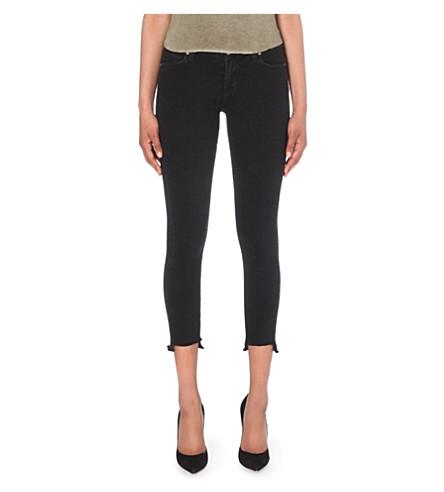 PAIGE Verdugo stepped-hem mid-rise jeans (Vintage+black
