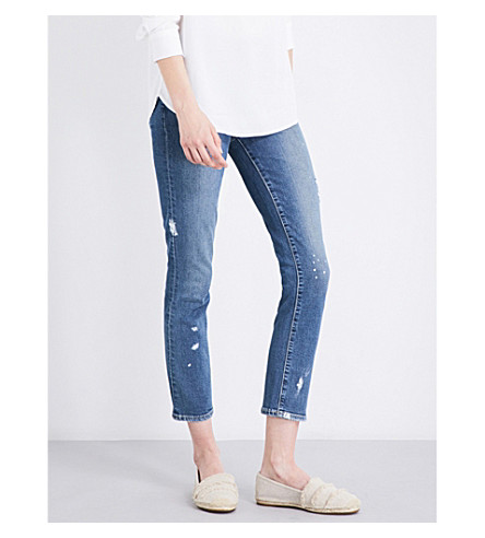 PAIGE DENIM Jacqueline straight high-rise jeans (Kirsten+distressed