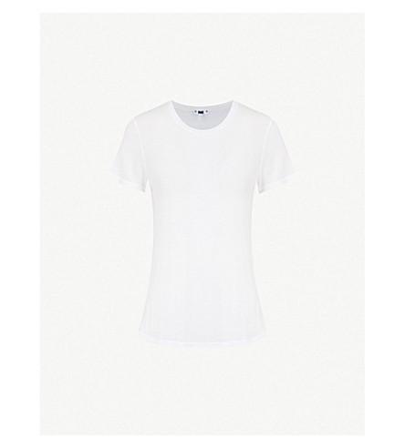 PAIGE贝克斯利平纹针织面料 T 恤 (光学 + 白色
