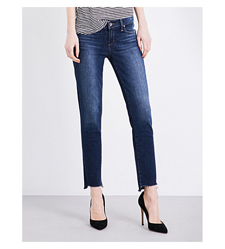 PAIGE DENIM Skyline Ankle stepped-hem skinny jeans (Brookdale
