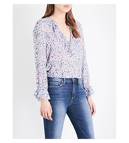PAIGE Fauna silk-chiffon blouse (Pale+mauve/niagara