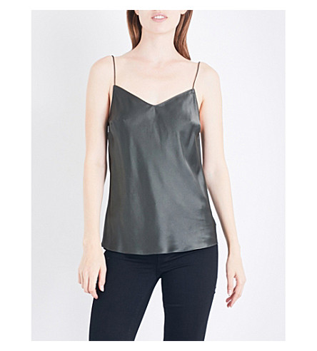 PAIGE DENIM Cicely silk-satin camisole (Vintage+deep+juniper