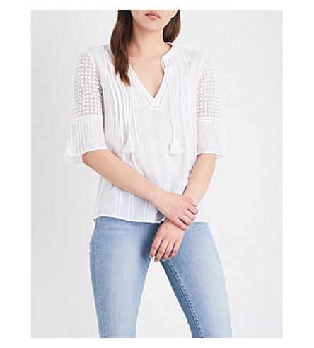 PAIGE DENIM Cecile cotton-gauze top (White