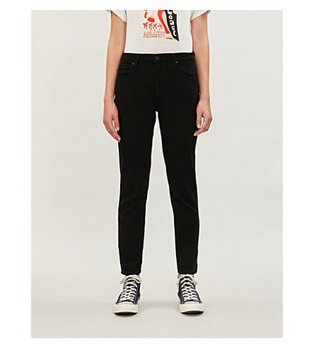 PAIGE Brigitte cropped straight mid-rise jeans (Black+overdye