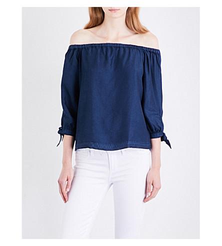 PAIGE DENIM Antonia off-the-shoulder woven top (Domencia