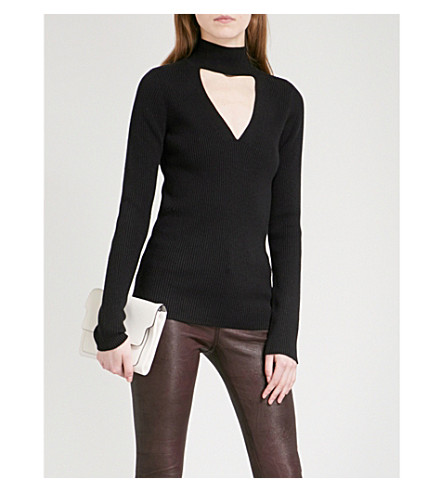 PAIGE Jeanie cutout knitted jumper (Black
