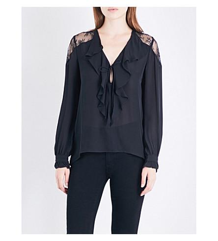 PAIGE Celesse silk-georgette blouse (Black