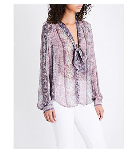 PAIGE Dion paisley-print silk-chiffon shirt (Blush+pink