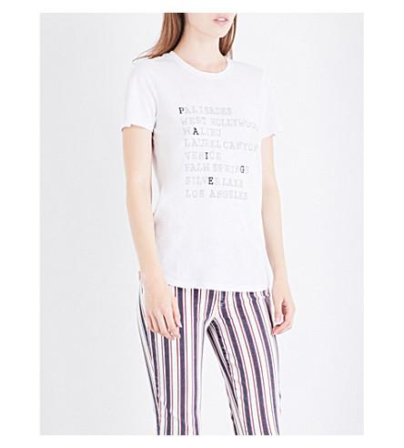 PAIGE DENIM Bexley jersey T-shirt (Vintage+white