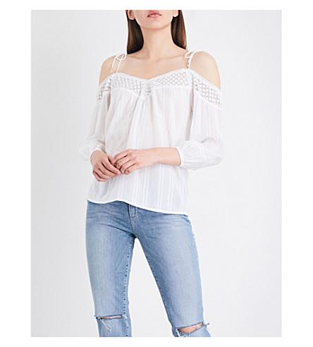 PAIGE DENIM Polly cotton-gauze blouse (White