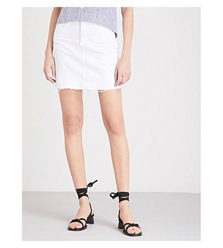 PAIGE Elaina denim mini skirt (Crisp+white