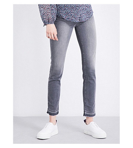 PAIGE Hoxton Crop released-hem skinny high-rise jeans (Silvie
