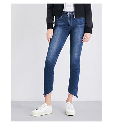 PAIGE DENIM Hoxton frayed-hem high-rise jeans (Fraya