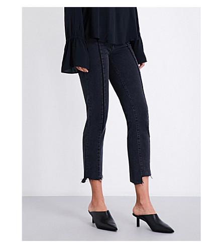 PAIGE Vintage Julia stepped-hem straight high-rise jeans (Ranger