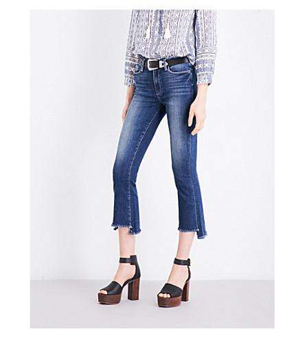 PAIGE DENIM Colette stepped-hem flared cropped high-rise jeans (Blake