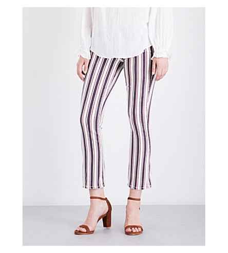 PAIGE Jocelyn flared cropped mid-rise jeans (Emerson+stripe