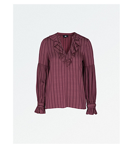 PAIGE Russo woven blouse (Wine