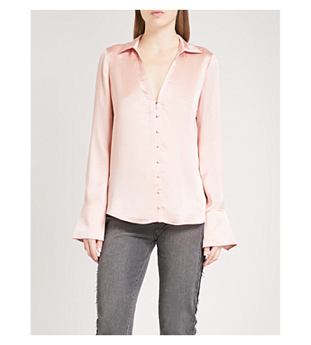 PAIGE Toscani silk-satin blouse (Misty+rose