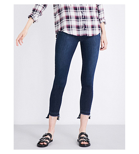 PAIGE Hoxton stepped-hem skinny cropped high-rise jeans (Emery