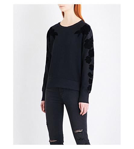佩 Lizeth 球衣运动衫 (霍丝 + 花卉 + 植绒