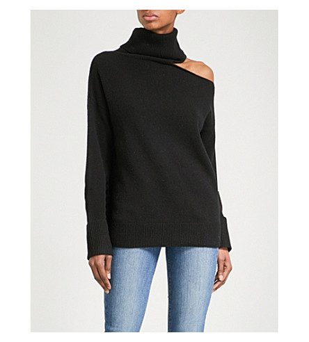 PAIGE Raundi wool-blend jumper (Black