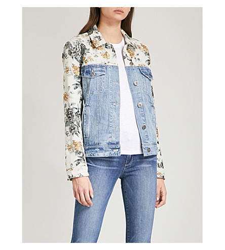 PAIGE Harrison denim and tapestry jacket (Indigo+tapestry