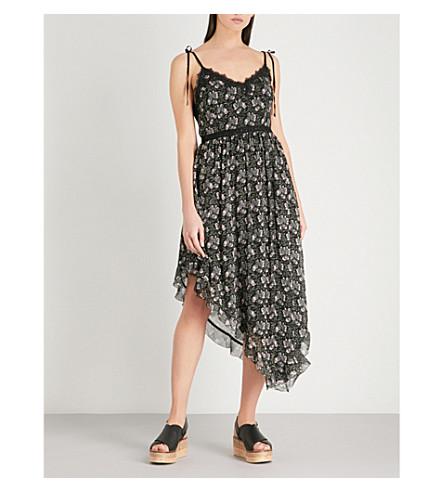 PAIGE Maxima asymmetric silk midi dress (Storm+cloud+floral