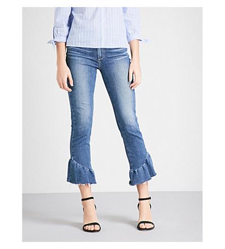 PAIGE Flora frayed-hem slim cropped high-rise jeans (Barkley